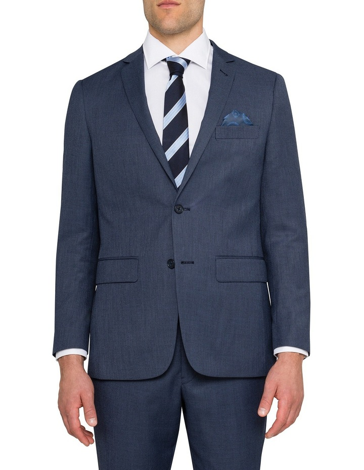 Slim Birdseye Blue Suit Jacket image 1
