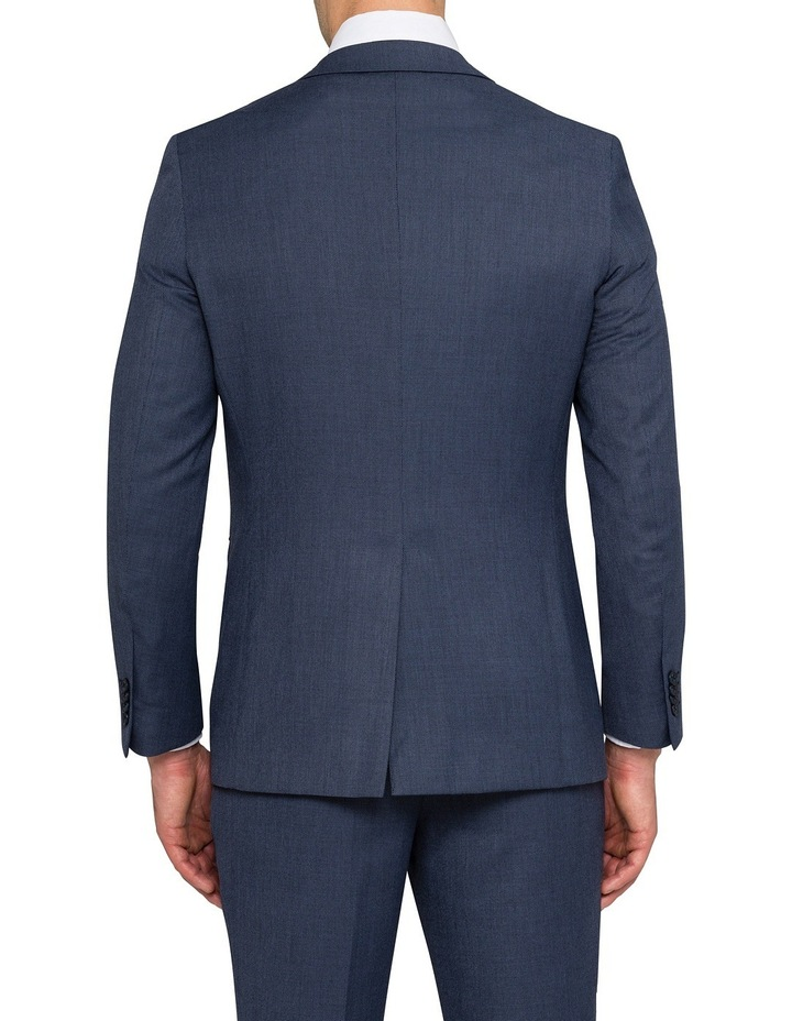 Slim Birdseye Blue Suit Jacket image 2