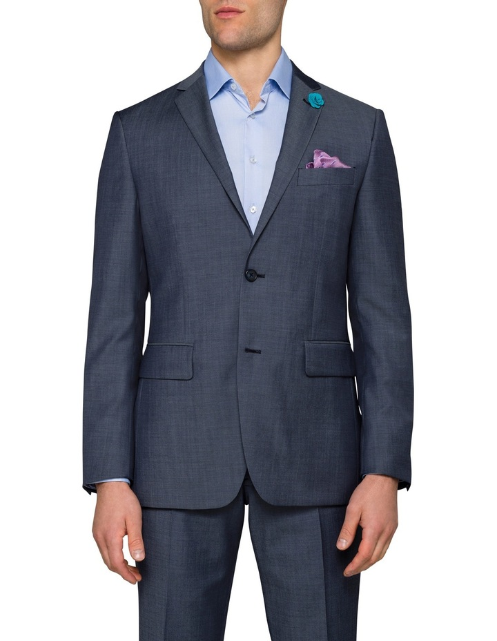 Slim Twill Steel Blue Suit Jacket image 1