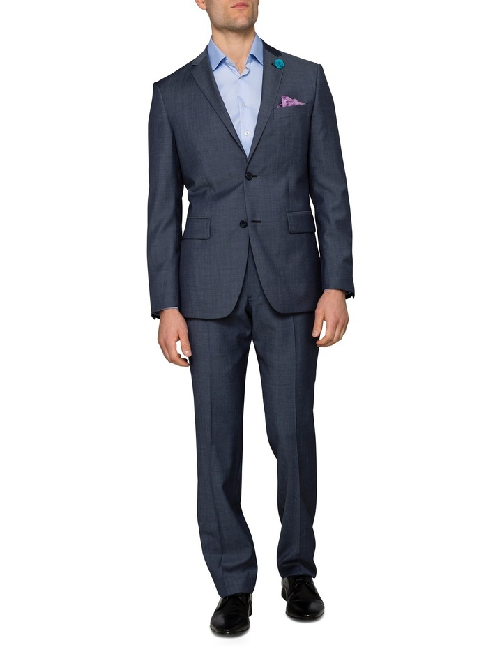 Slim Twill Steel Blue Suit Jacket image 3