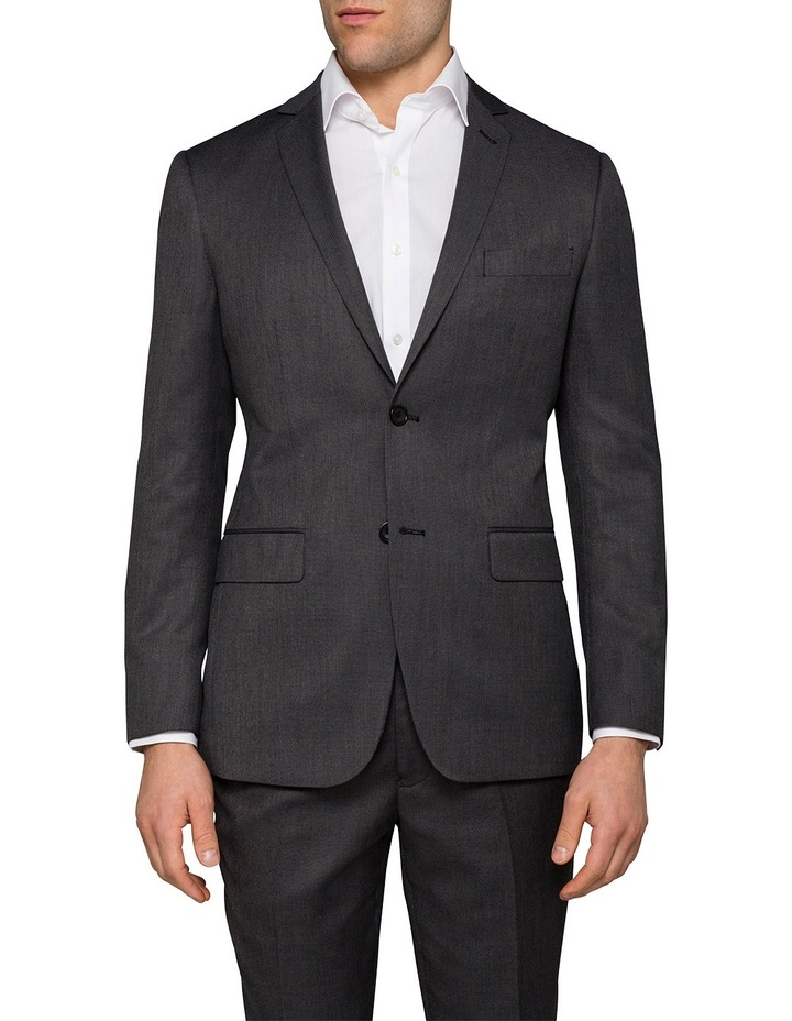 Slim Birdseye Grey Suit Jacket image 1