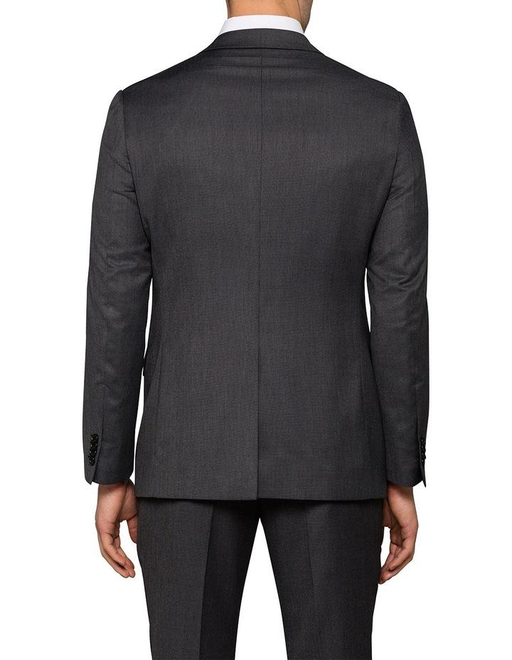 Slim Birdseye Grey Suit Jacket image 2