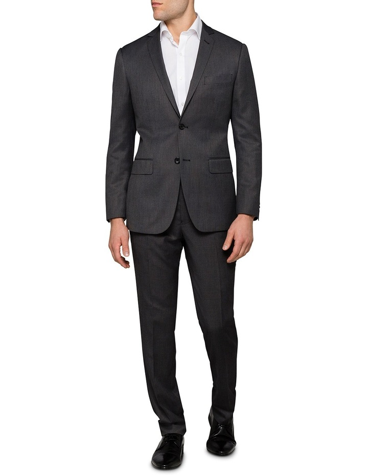 Slim Birdseye Grey Suit Jacket image 3