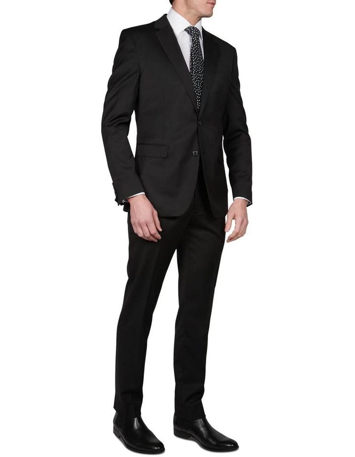 Textured Plain Performance Stretch Suit Jacket image 2