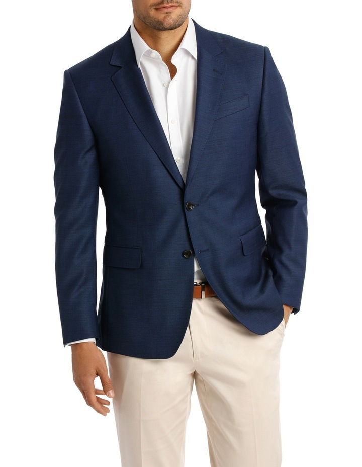 Two Tone Pinpoint Performance Stretch Suit Jacket K386021 image 1