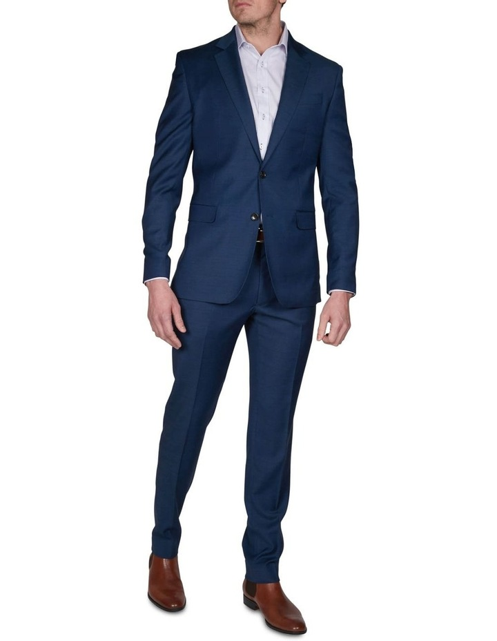 Two Tone Pinpoint Performance Stretch Suit Jacket image 4