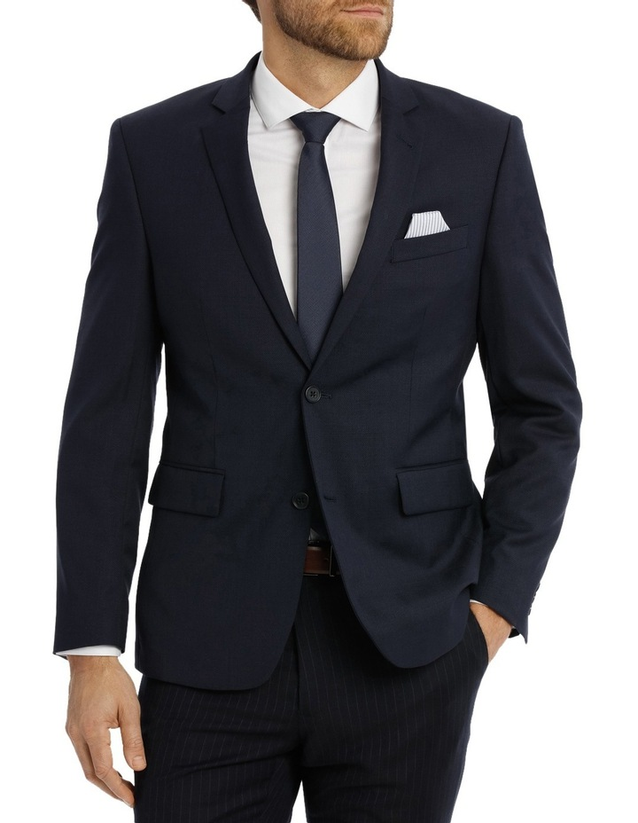 Navy Textured Suit Jacket Slim M510_ RNVB image 1