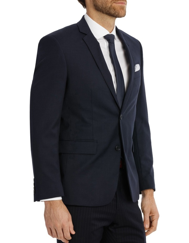 Navy Textured Suit Jacket Slim M510_ RNVB image 2