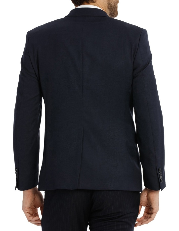 Navy Textured Suit Jacket Slim M510_ RNVB image 3