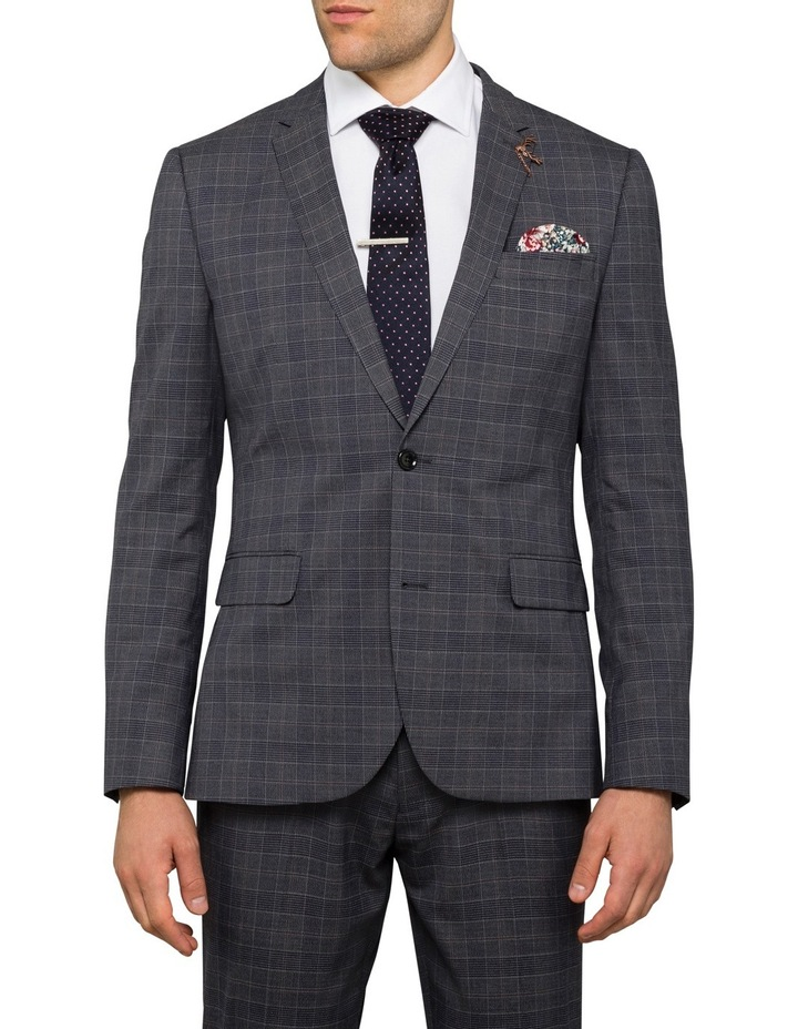 Charcoal Check Suit Jacket PCJSM010Z_CCCG image 1