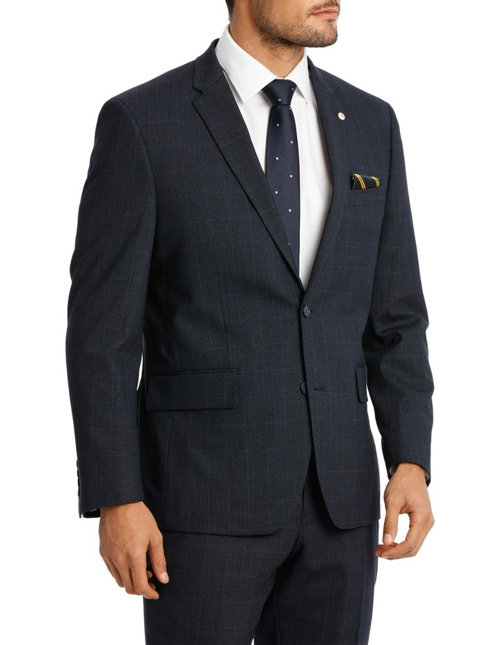 Navy Window Pane Suit Jacket image 2
