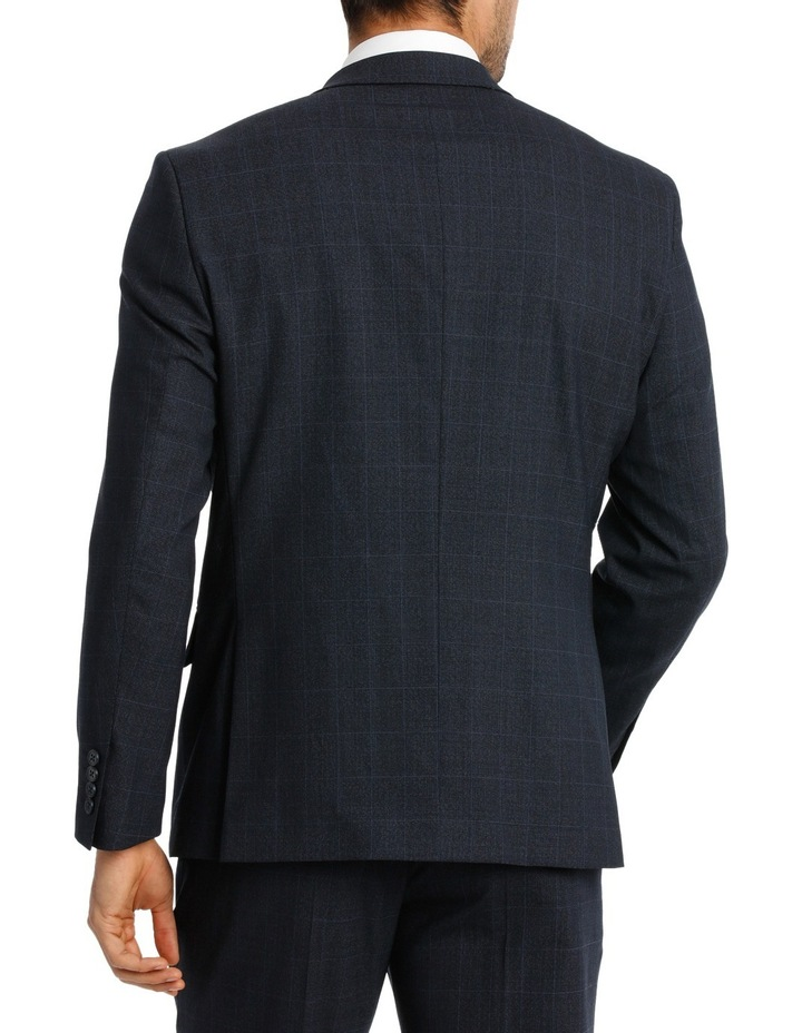 Navy Window Pane Suit Jacket image 3