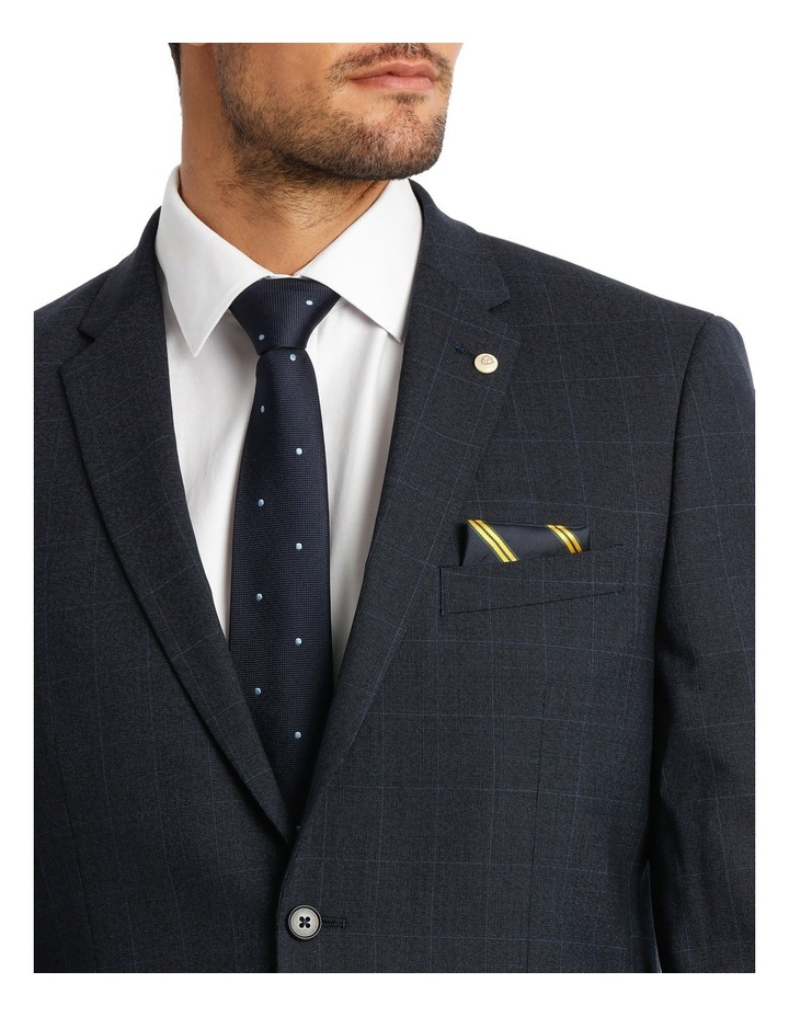Navy Window Pane Suit Jacket image 4