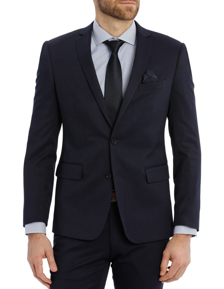 Solid Navy Suit Jacket image 1