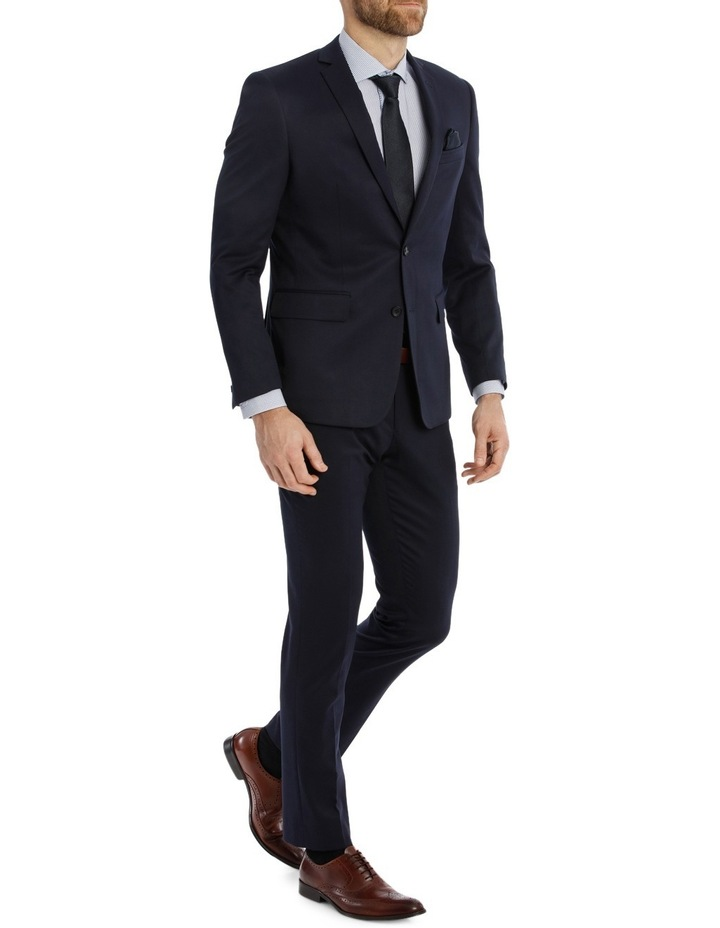 Solid Navy Suit Jacket image 2