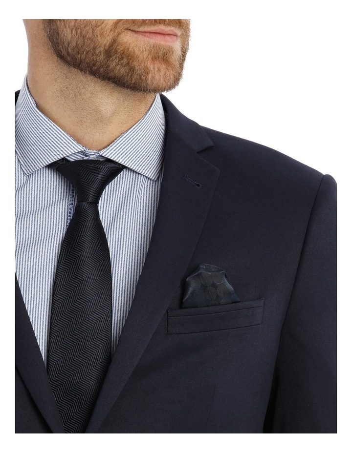 Solid Navy Suit Jacket image 3