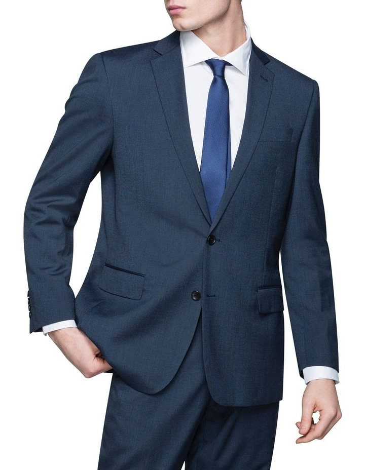 SOLID TEXTURED SUIT JACKET image 1