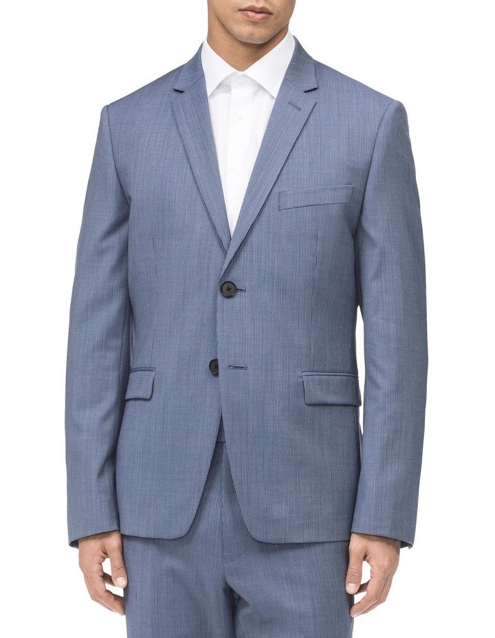 FINE STRIPE SUIT JACKET image 1