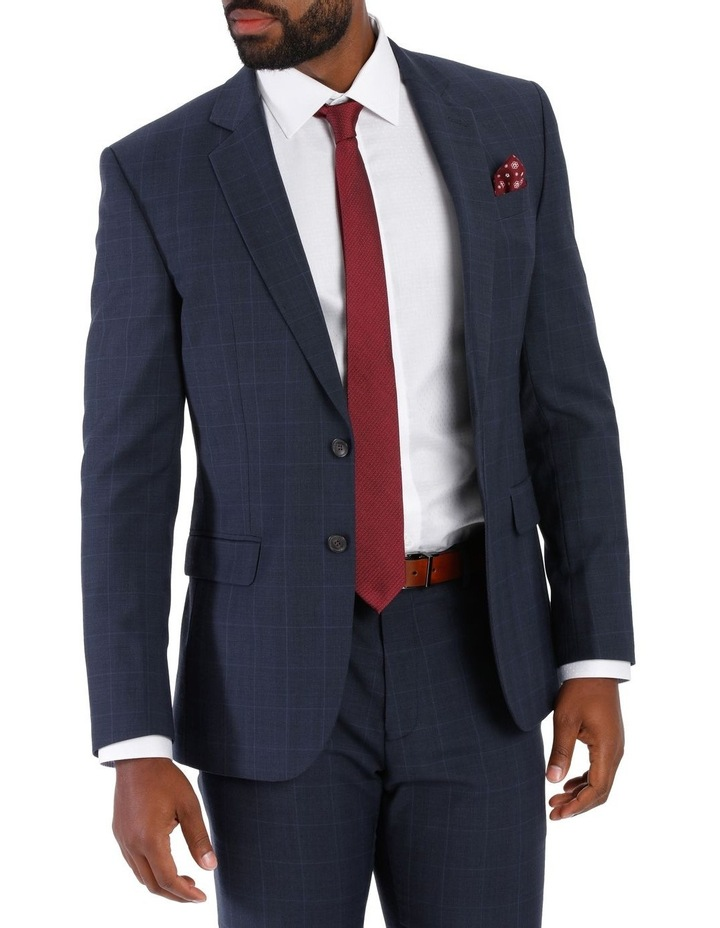 Check Suit Jacket Navy image 1