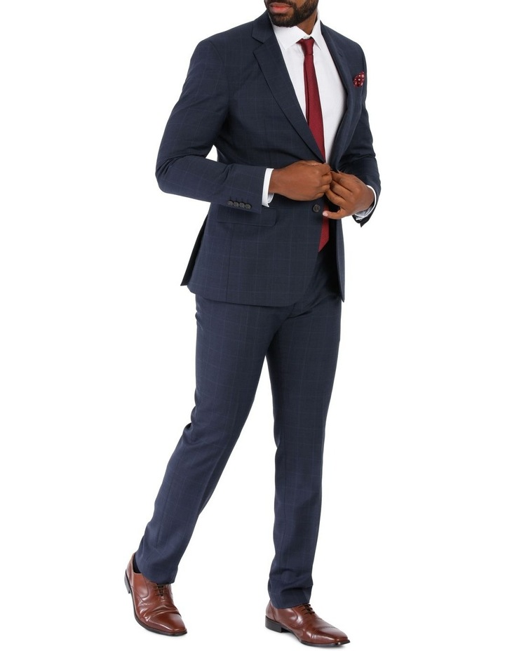 Check Suit Jacket Navy image 2