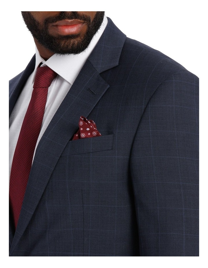 Check Suit Jacket Navy image 4