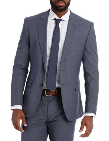434e2f883 Jeff Banks Textured Plain Suit Jacket Steel