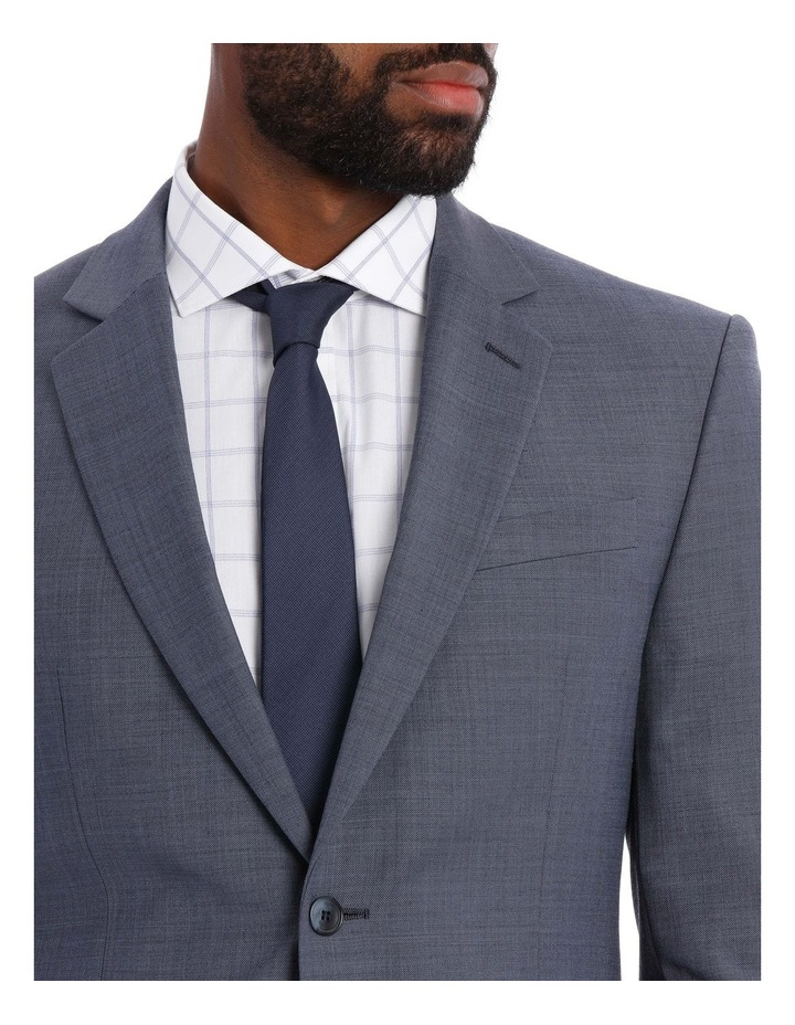 Textured Plain Suit Jacket Steel image 4