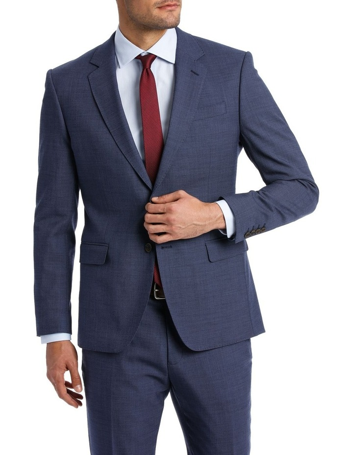 MICRO TWILL SUIT JACKET BLUE image 1