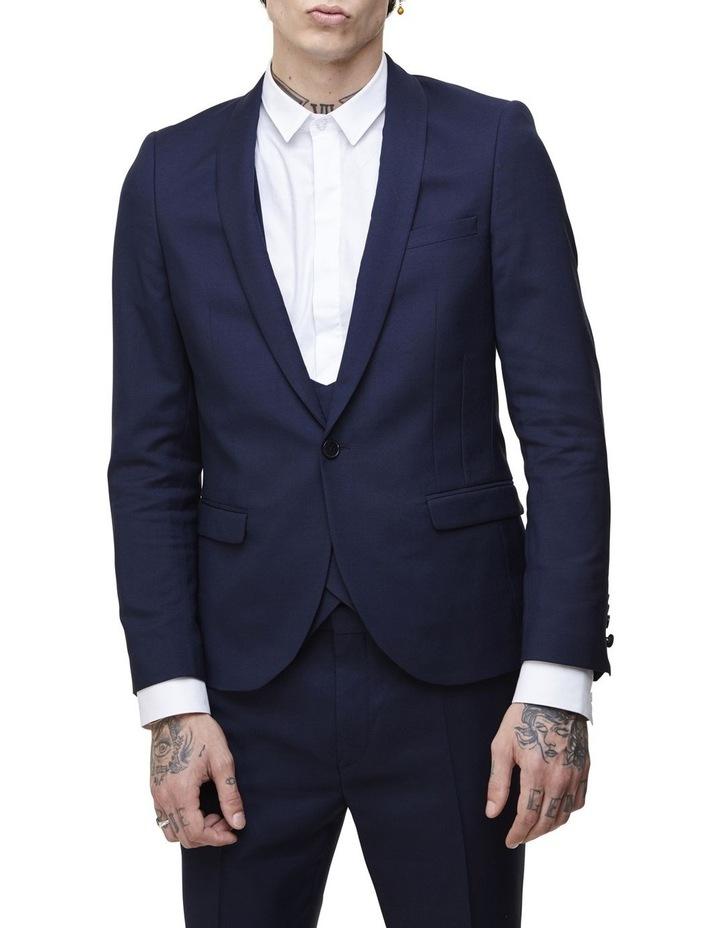 Hemmingway Plain Suit Jacket Navy image 1