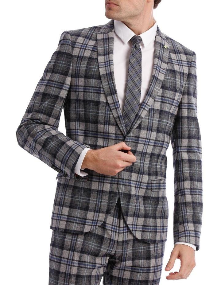 Kaufman Check Suit Jacket Grey image 1