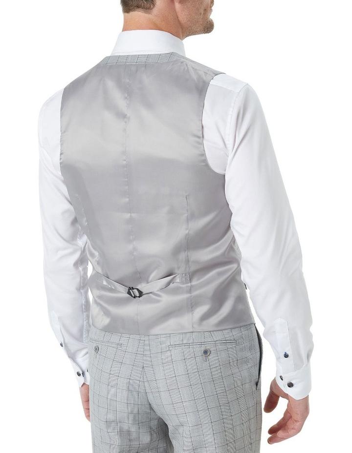Hearts Light Grey Wool Linen Check Suit Vest image 2