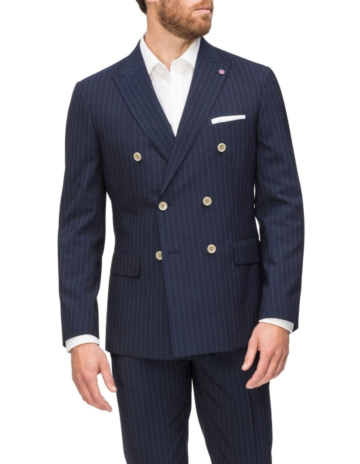 Double Breasted Pinstripe Suit Jacket image 1
