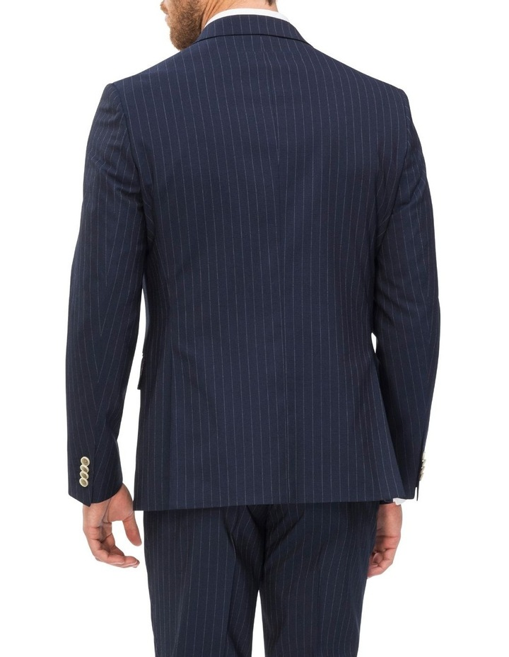 Double Breasted Pinstripe Suit Jacket image 2