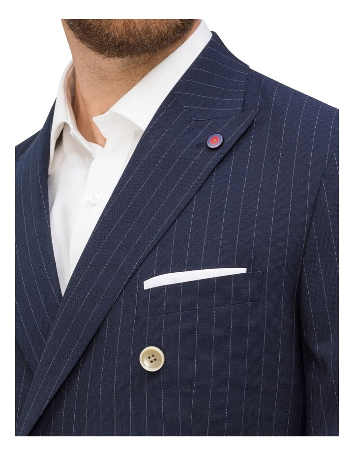 Double Breasted Pinstripe Suit Jacket image 3