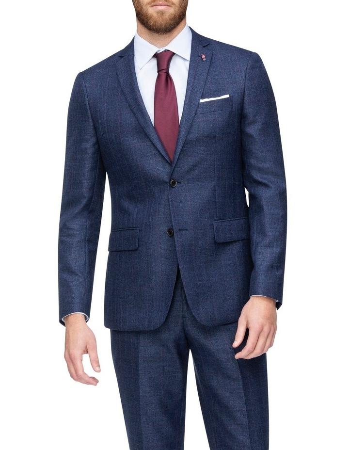 Windowpane Check Suit Jacket image 1