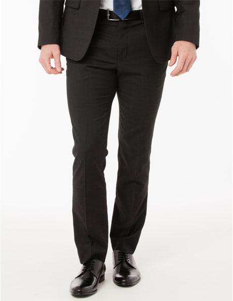 Slim Fit Charcoal Suit Trouser image 1