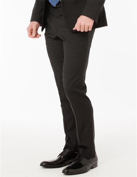 Slim Fit Charcoal Suit Trouser image 2