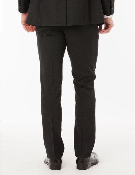Slim Fit Charcoal Suit Trouser image 3