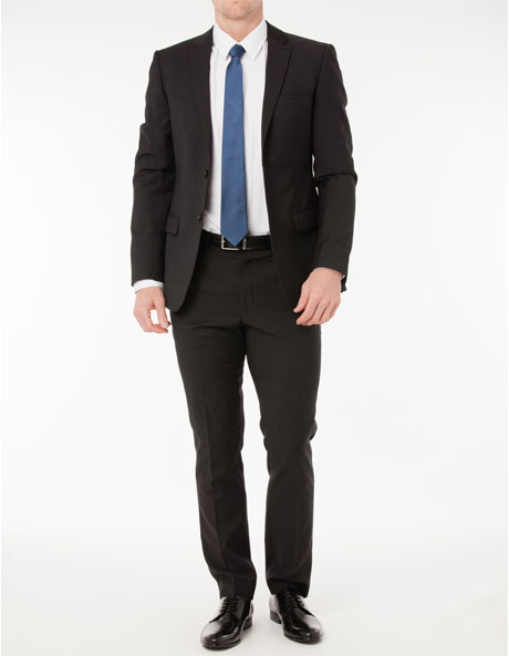 Slim Fit Charcoal Suit Trouser image 4