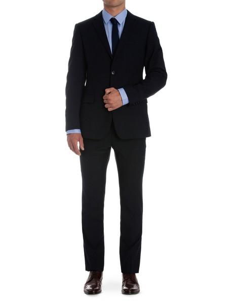 Slim Fit Navy Suit Trouser image 4