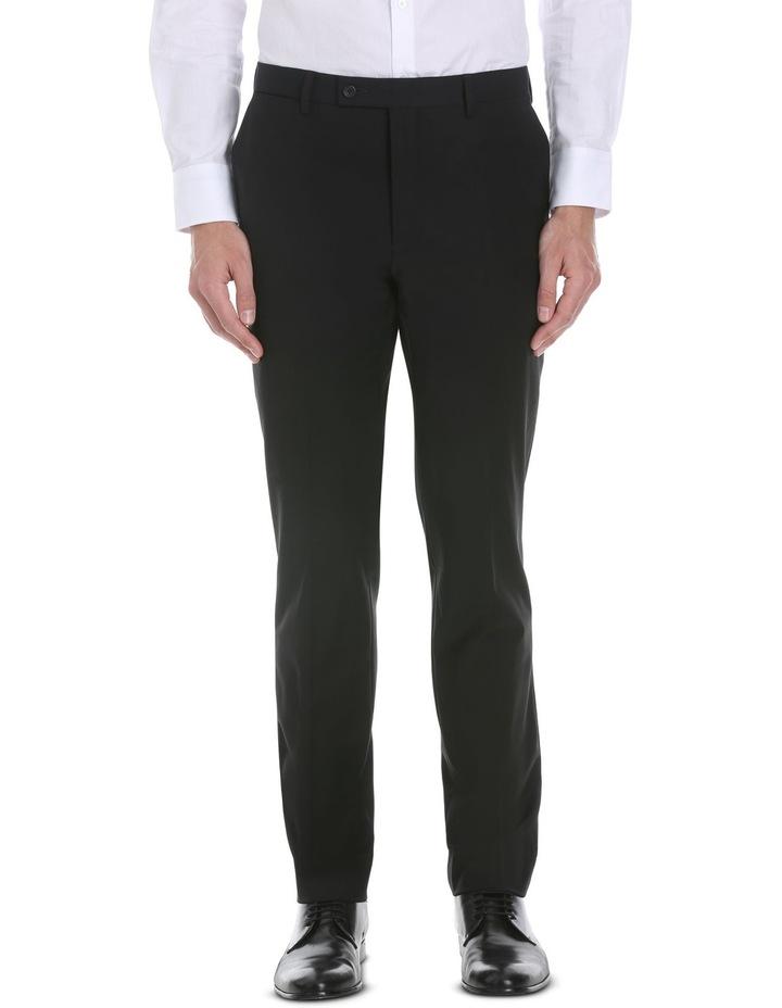 Black Plain Suit Trouser image 1