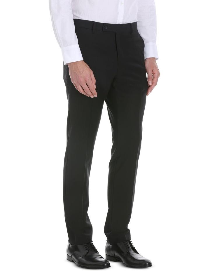 Black Plain Suit Trouser image 2