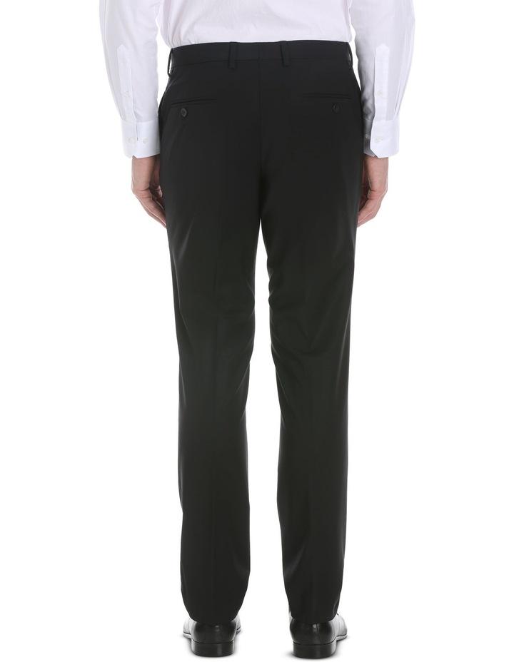 Black Plain Suit Trouser image 3