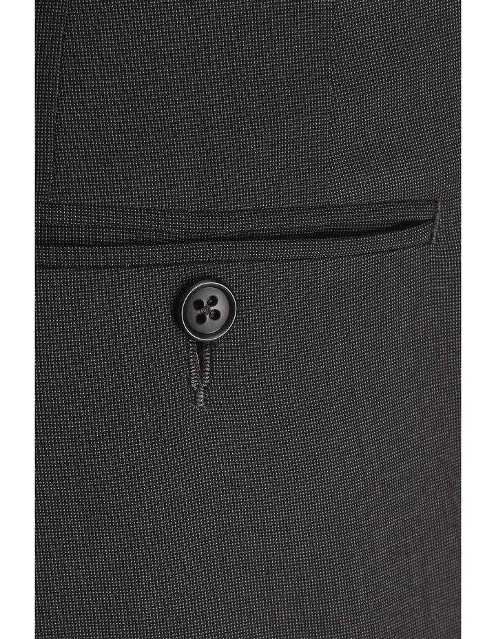 Charcoal Nailhead Suit Trouser image 4
