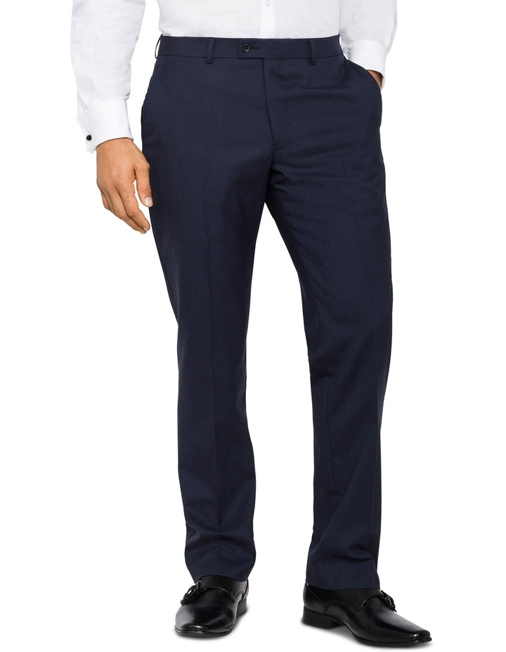 Van Heusen European Fit - Navy Puppytooth Merino Suit Pant image 1