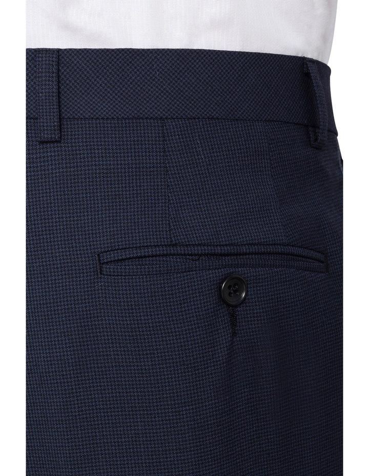 Van Heusen European Fit - Navy Puppytooth Merino Suit Pant image 3