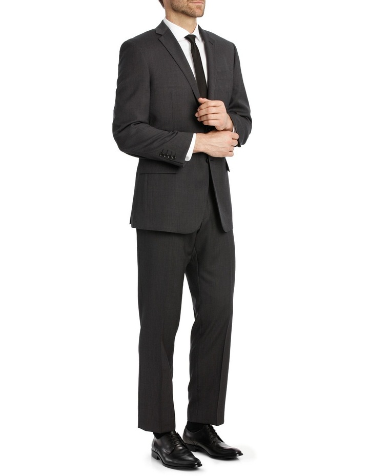 Charcoal Pindot Suit Trouser image 2