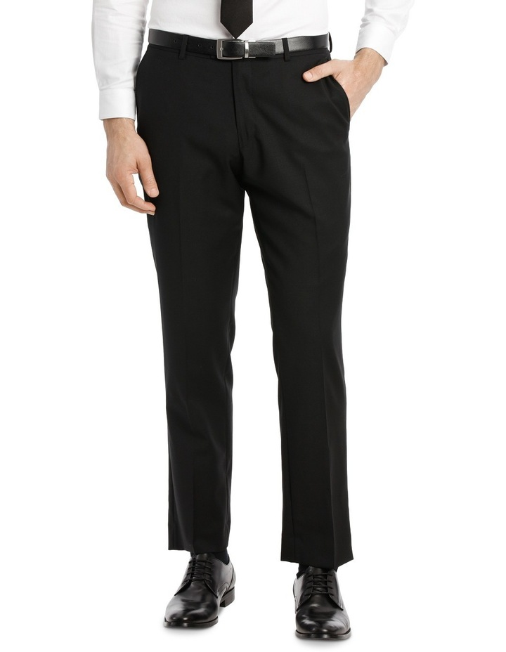Black Textured Suit Trouser image 1