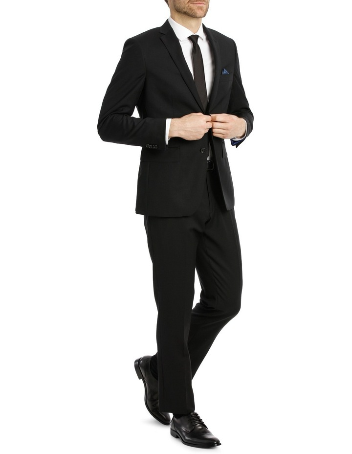 Black Textured Suit Trouser image 2