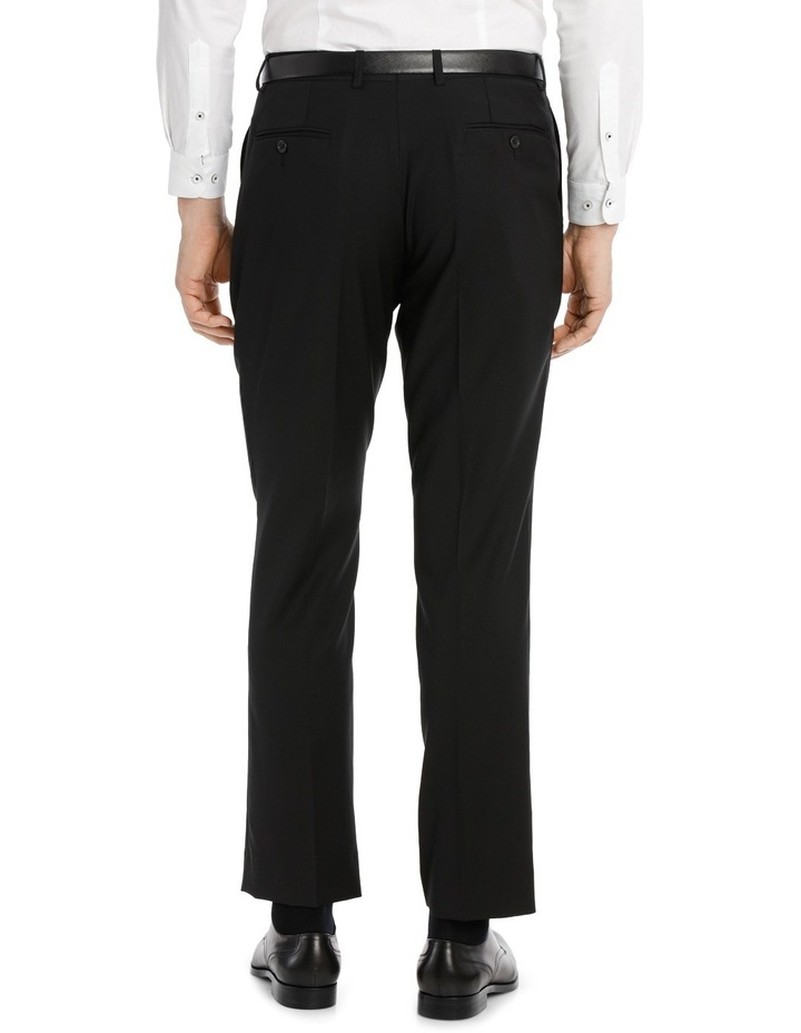 Black Textured Suit Trouser image 3